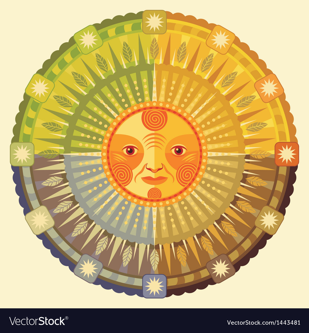 The four seasons vector | Price: 1 Credit (USD $1)