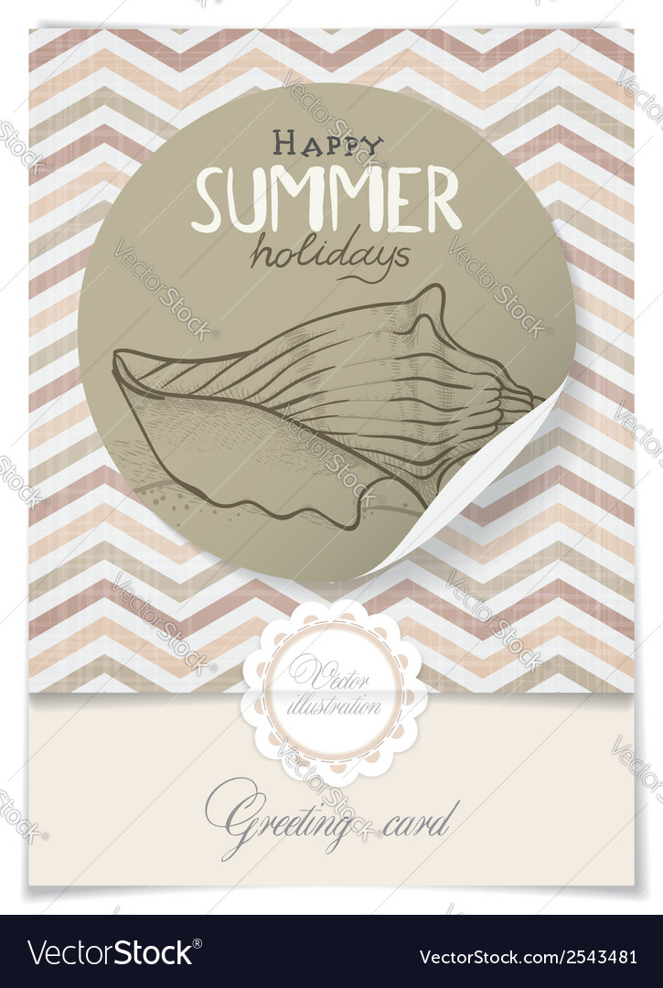 Greeting card design template vector | Price: 1 Credit (USD $1)
