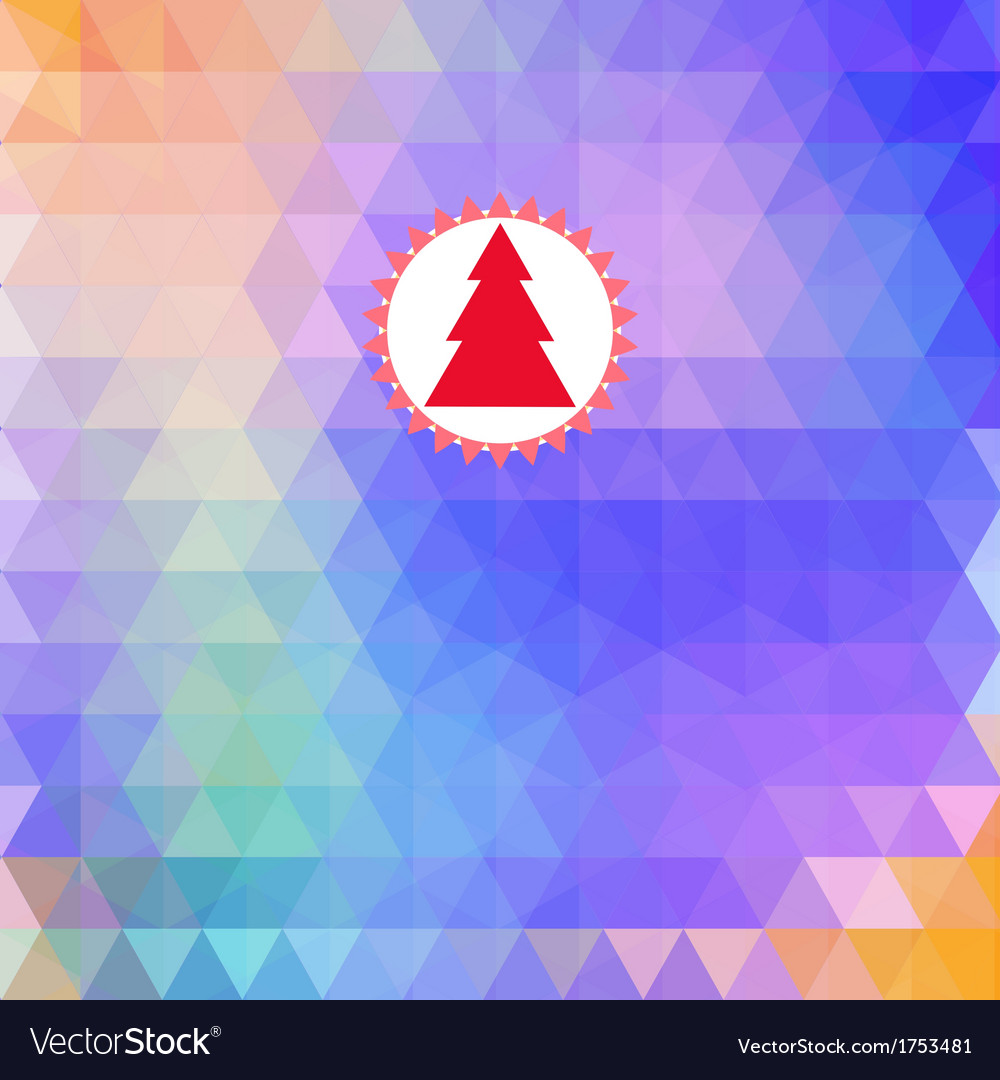 Merry christmas card abstract geometric background vector | Price: 1 Credit (USD $1)