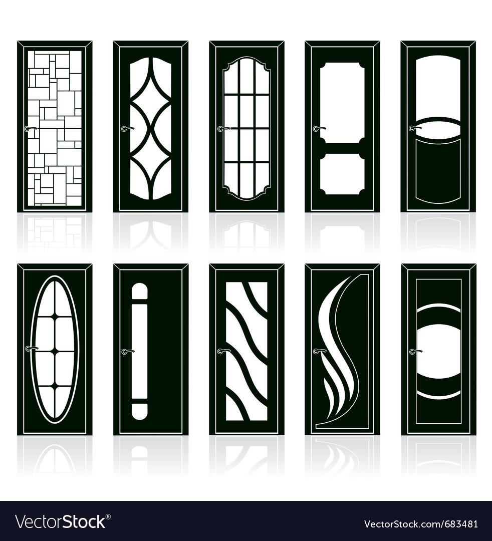 Modern front doors vector | Price: 1 Credit (USD $1)
