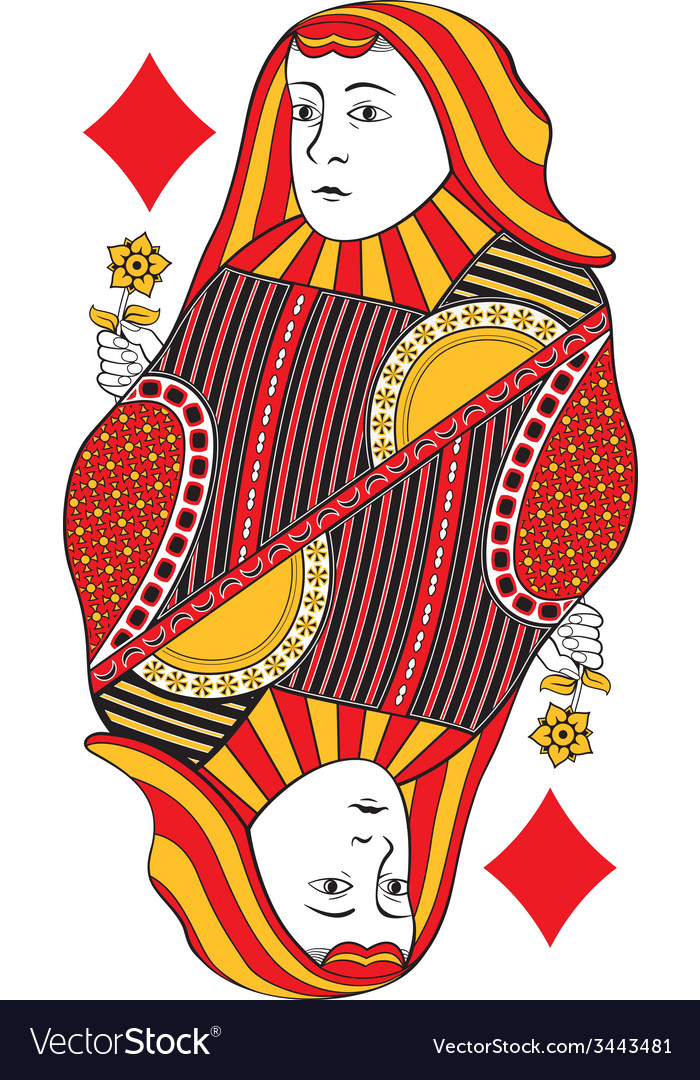 Queen of diamonds no card vector | Price: 1 Credit (USD $1)