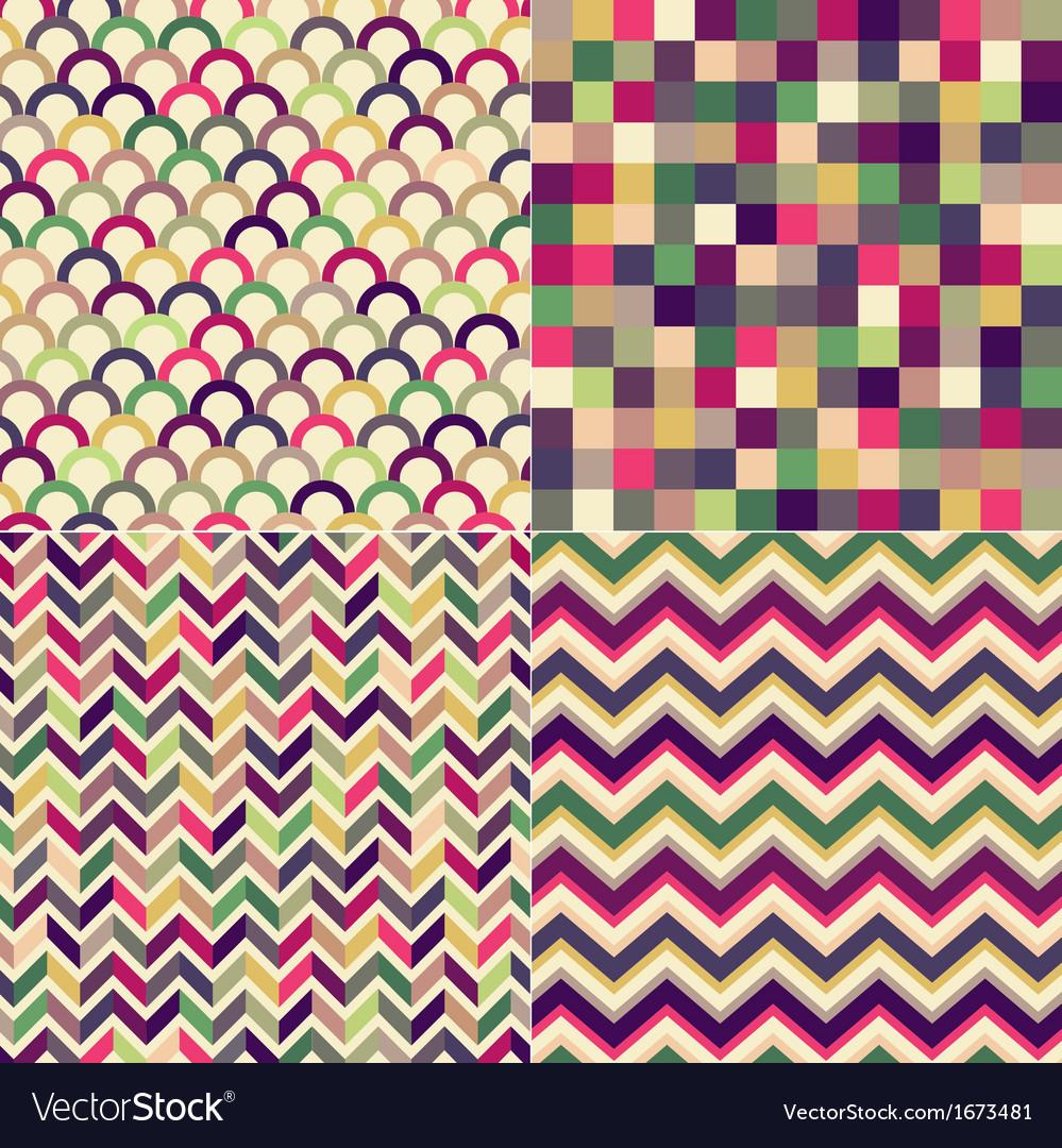 Seamless multicolored geometric pattern vector | Price: 1 Credit (USD $1)