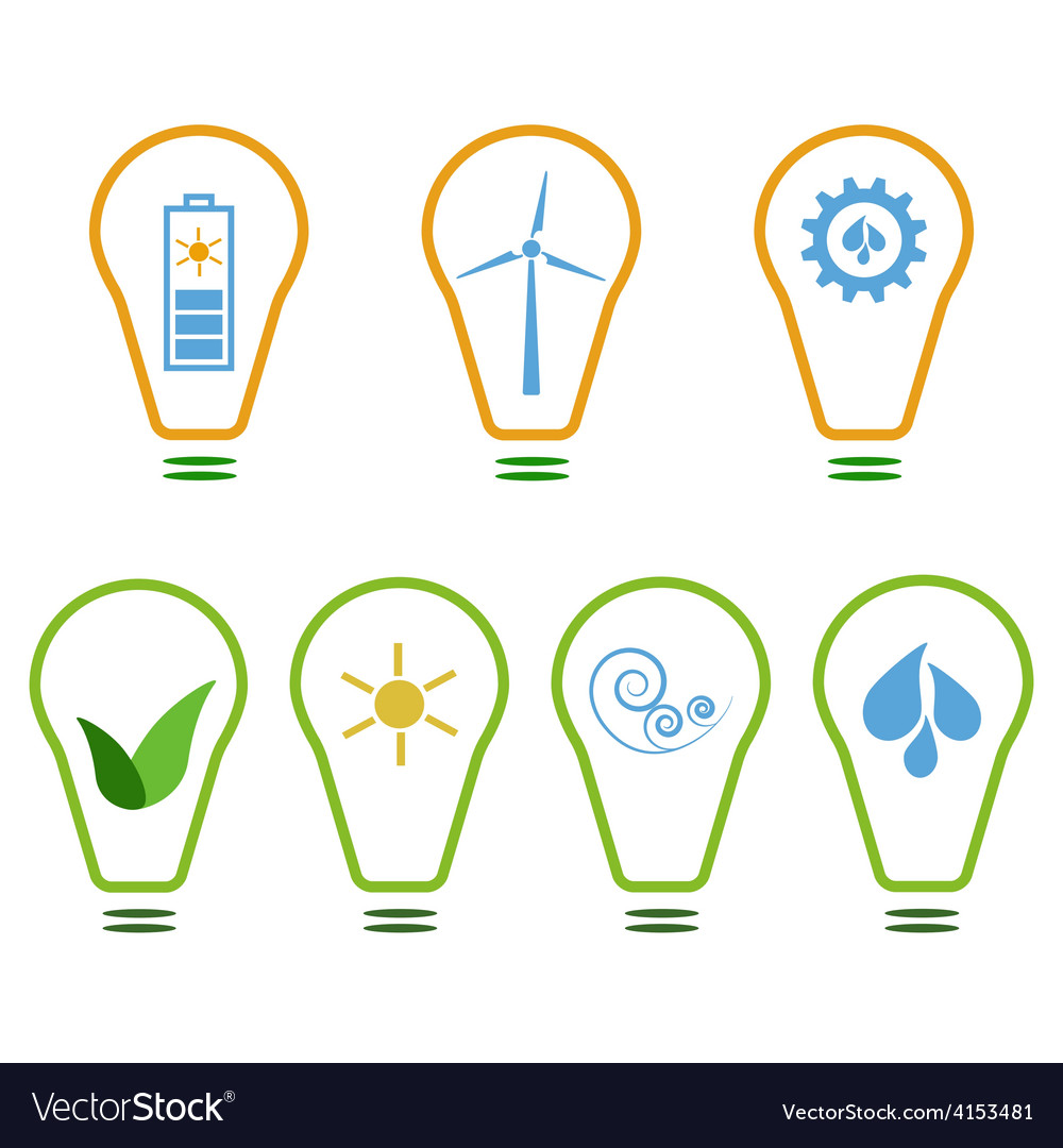 Set of eco logos vector | Price: 1 Credit (USD $1)