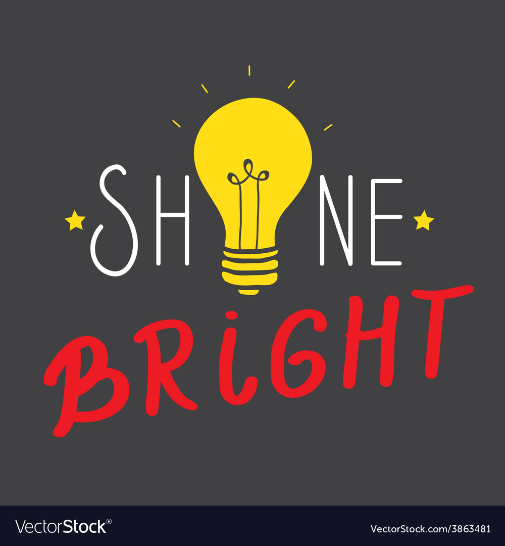 Shine bright vector | Price: 1 Credit (USD $1)