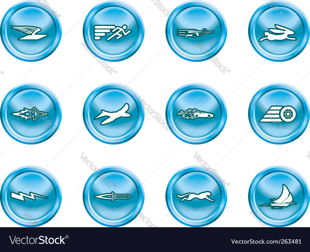 Speed icons vector | Price: 1 Credit (USD $1)