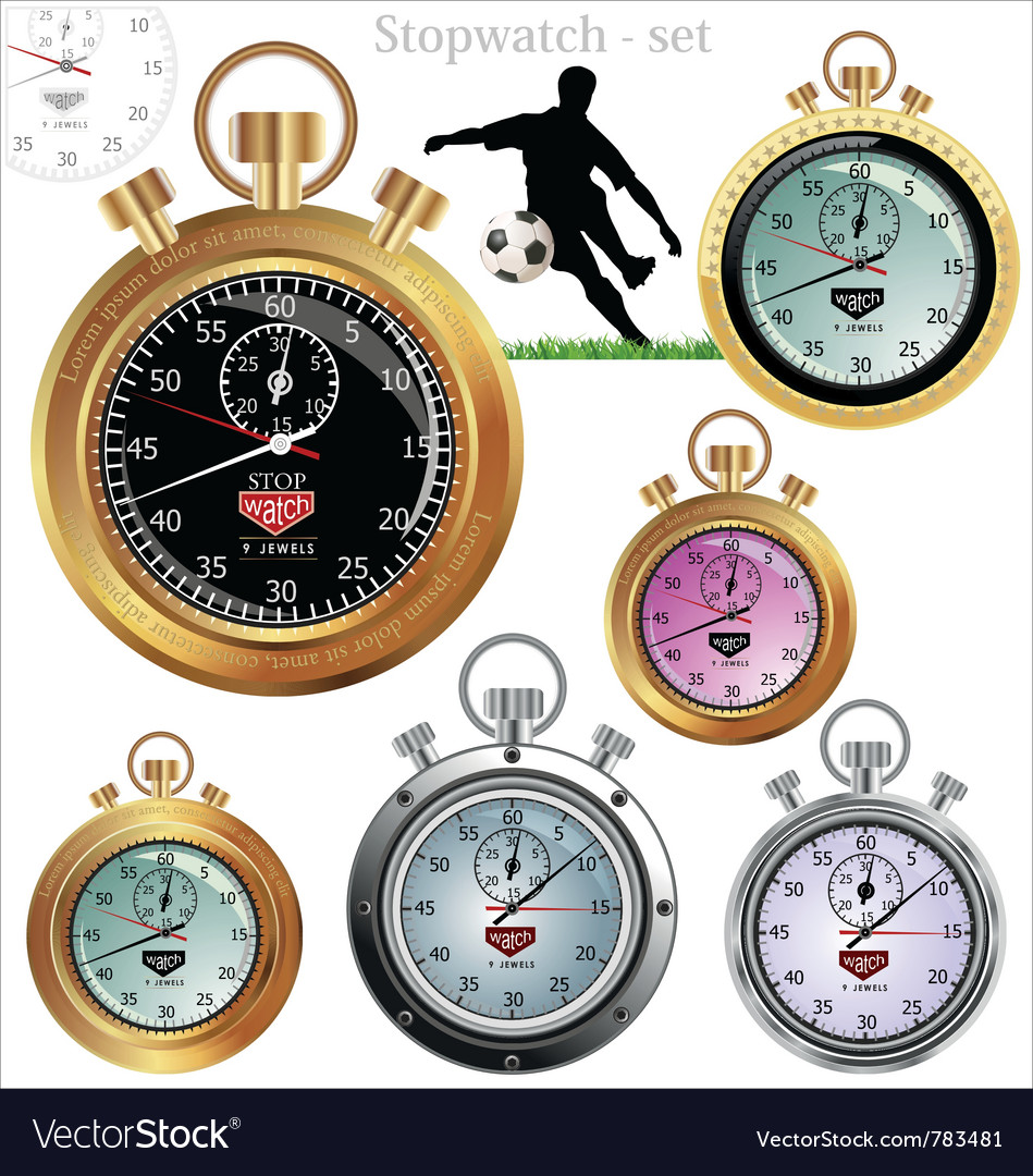 Stopwatch set vector   Price: 1 Credit (USD $1)