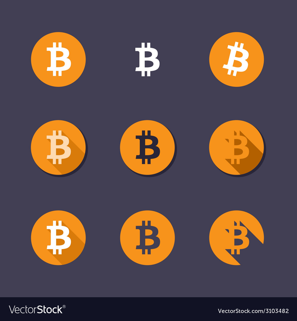 Bitcoin icons vector | Price: 1 Credit (USD $1)