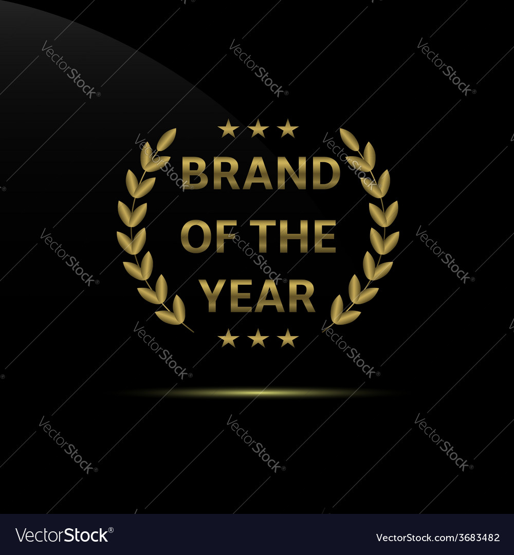 Brand of the year vector | Price: 1 Credit (USD $1)