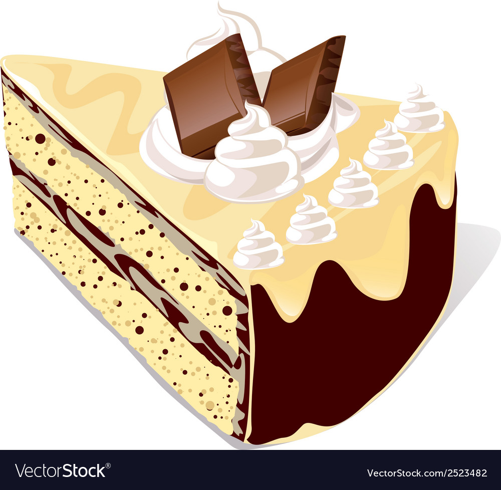 Cafe cake vector | Price: 1 Credit (USD $1)