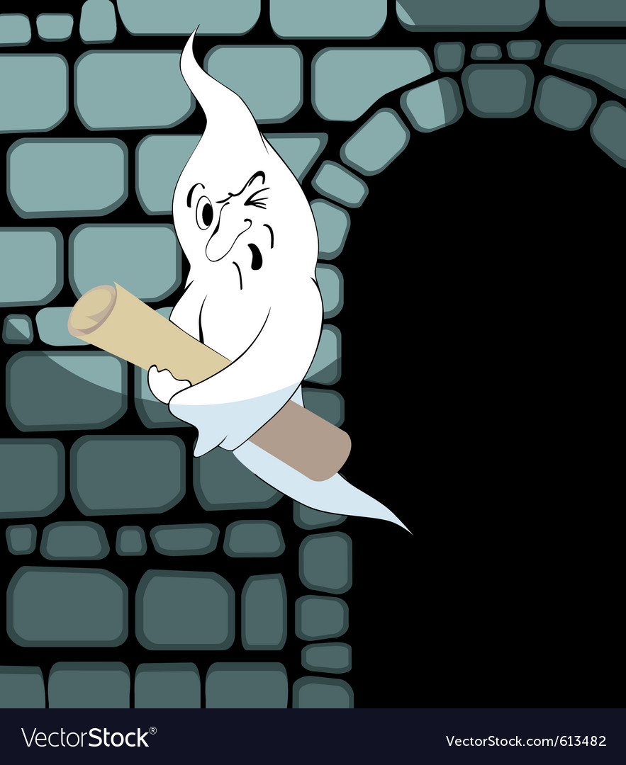 Ghost steals the scroll vector | Price: 1 Credit (USD $1)