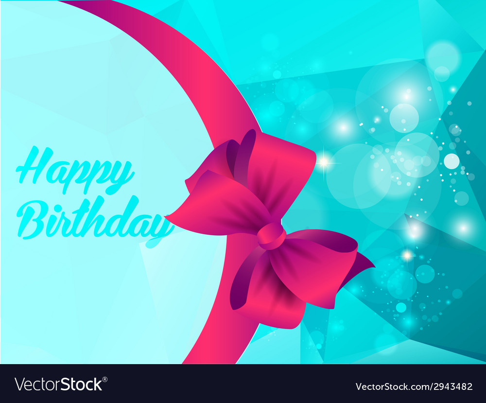 Happy birthday with shine triangle and ribbon vector | Price: 1 Credit (USD $1)