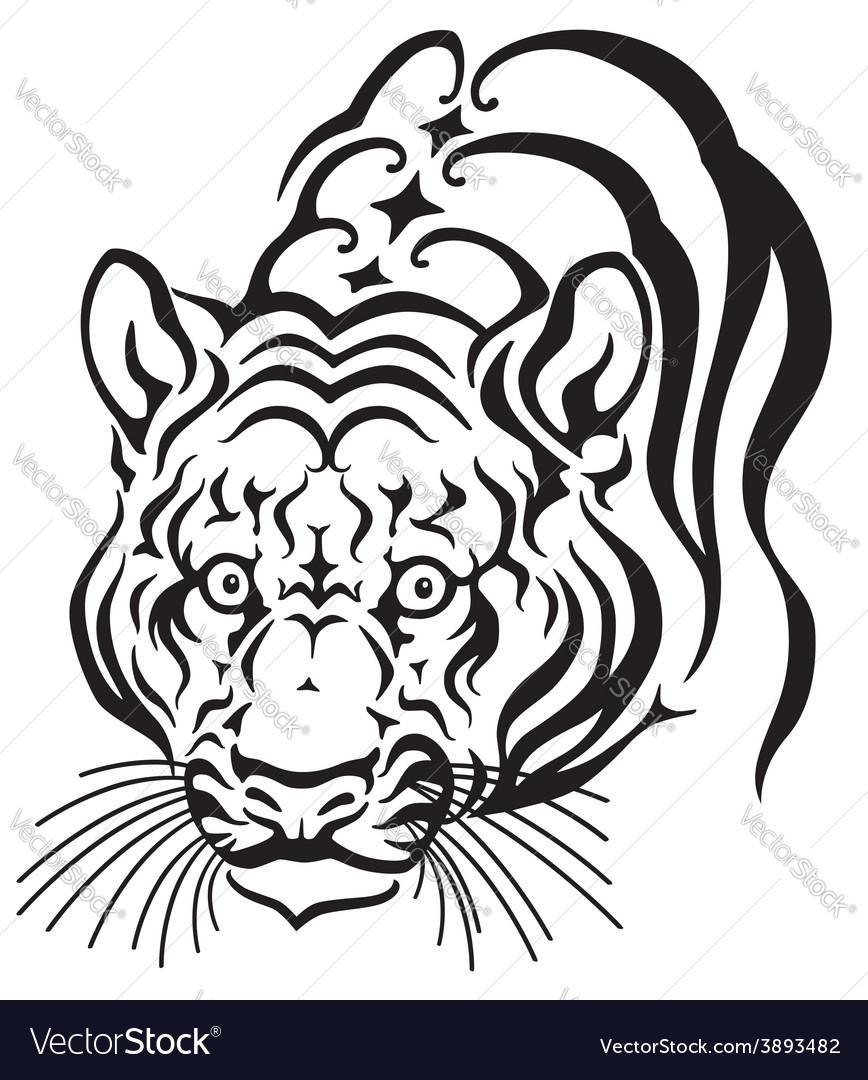 Head of tiger vector | Price: 1 Credit (USD $1)