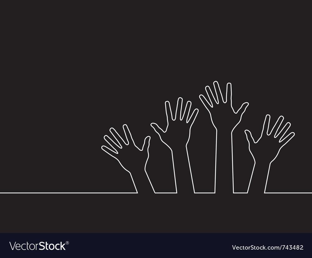 Line of hands vector | Price: 1 Credit (USD $1)