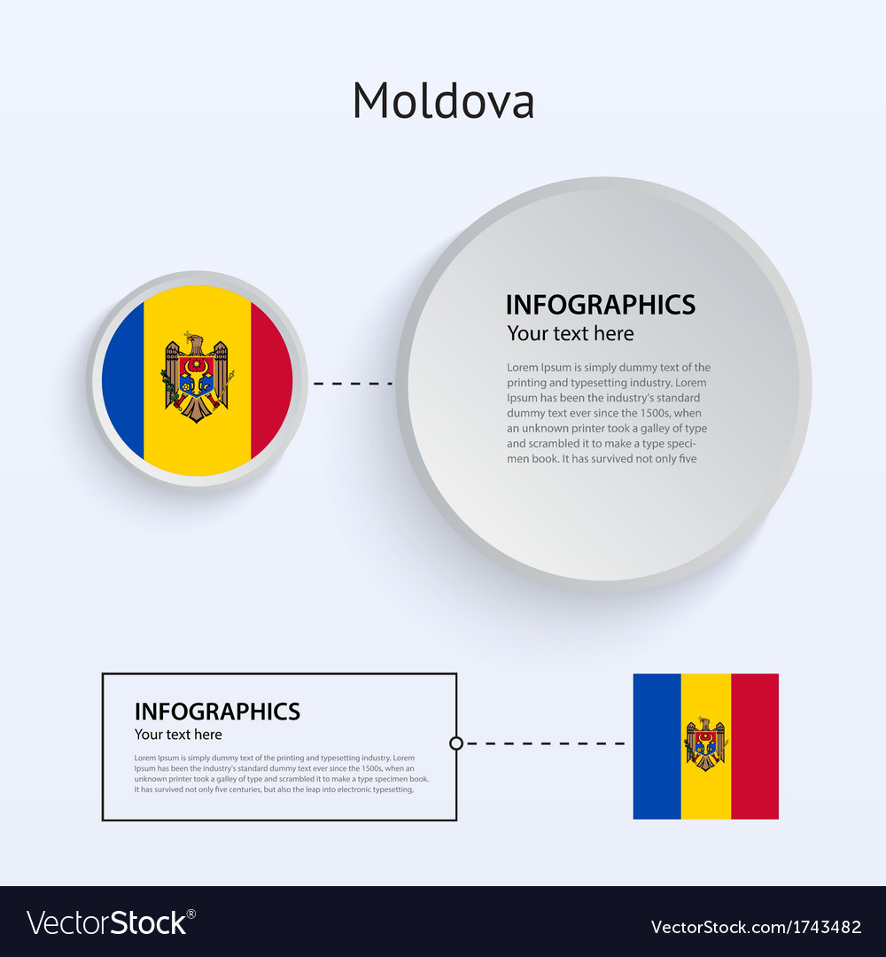 Moldova country set of banners vector | Price: 1 Credit (USD $1)