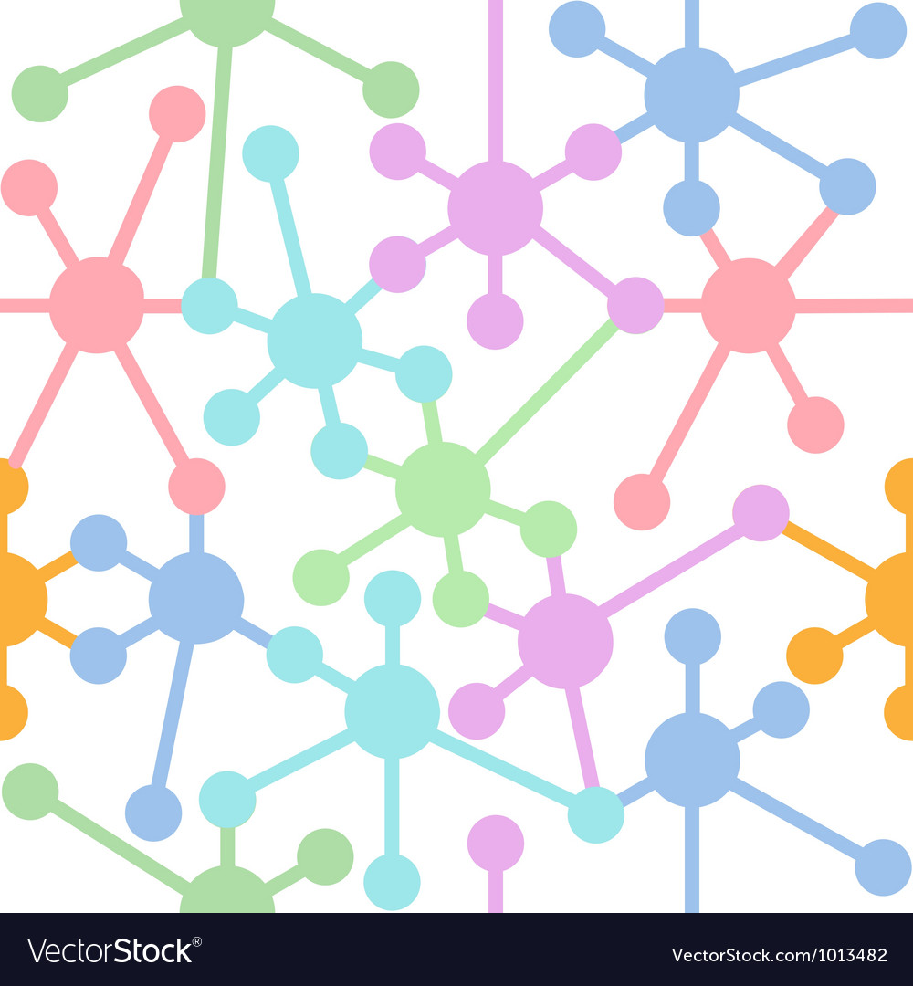 Network connection nodes seamless pattern vector | Price: 1 Credit (USD $1)