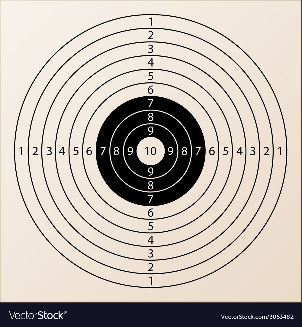 Paper rifle target vector | Price: 1 Credit (USD $1)