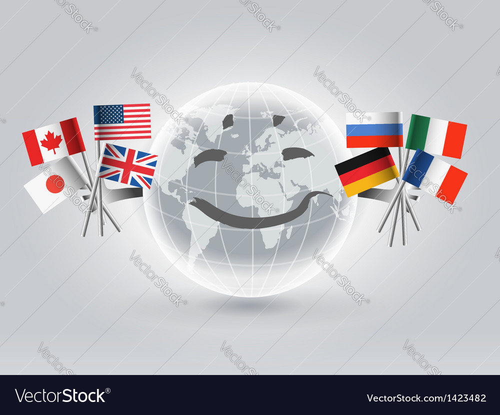 Smiling world globe vector | Price:  Credit (USD $)