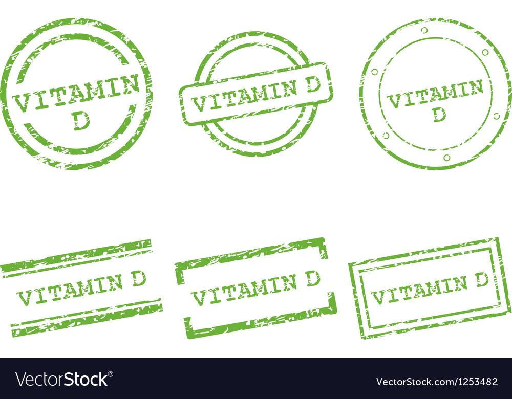 Vitamin d stamps vector | Price: 1 Credit (USD $1)