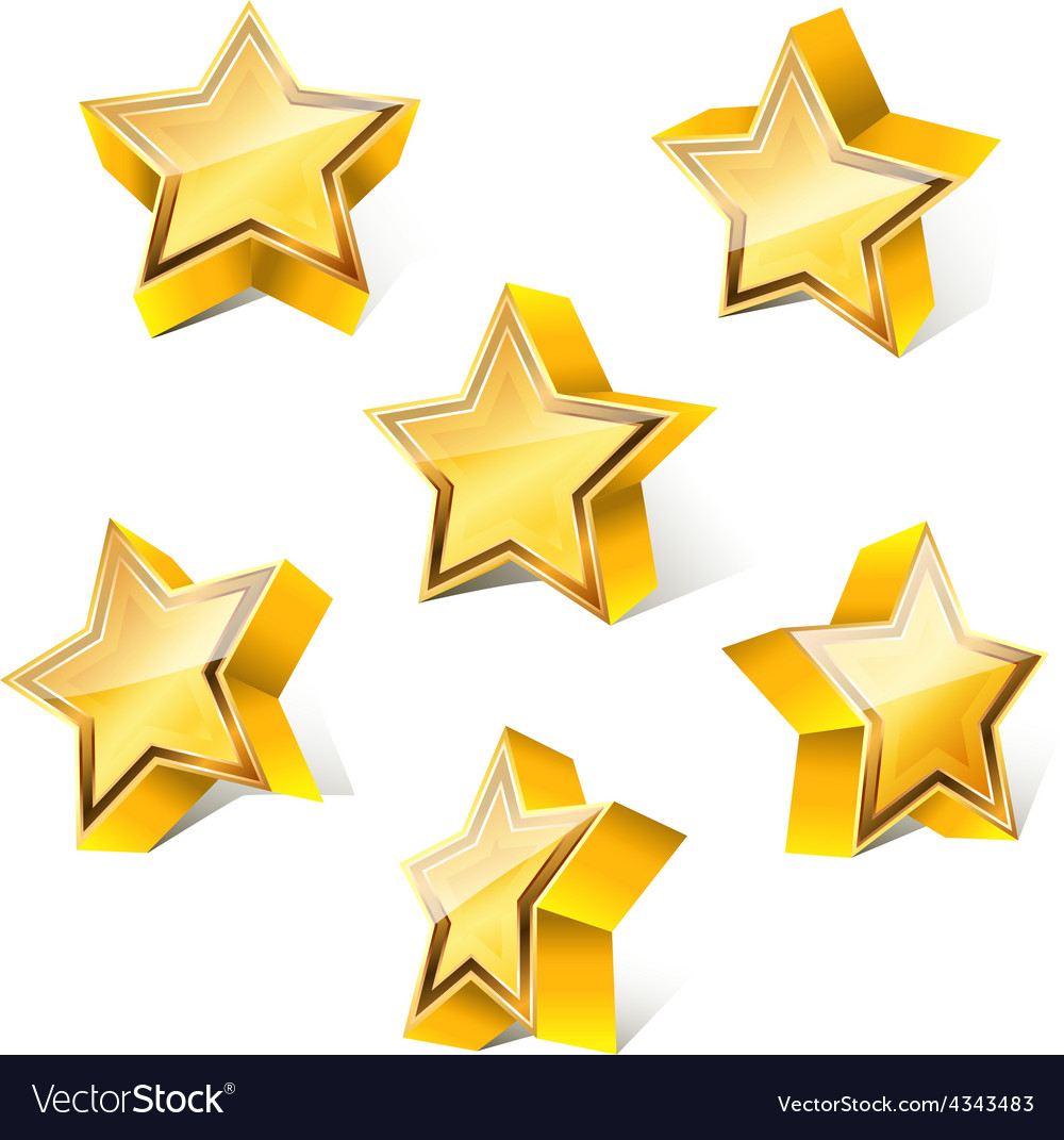 3d star set vector | Price: 1 Credit (USD $1)