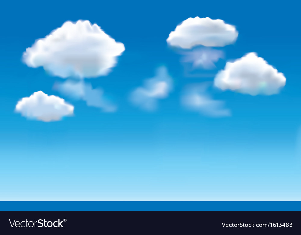 Blue sky clouds vector | Price: 1 Credit (USD $1)