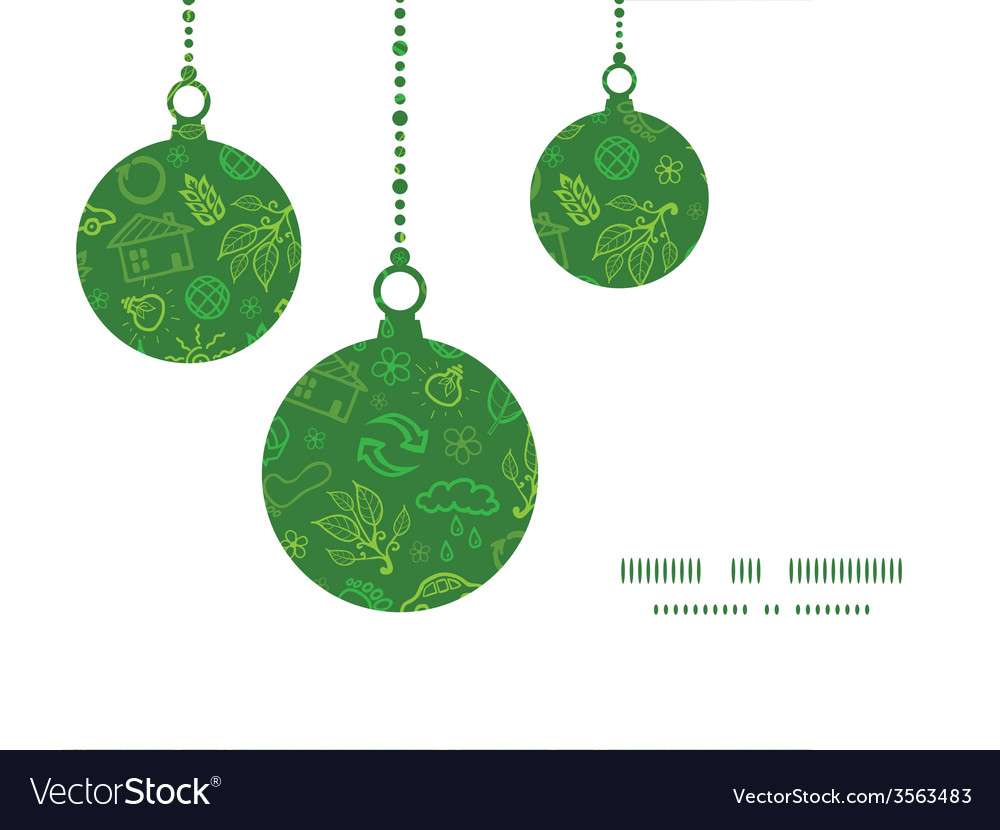 Ecology symbols christmas ornaments silhouettes vector | Price: 1 Credit (USD $1)