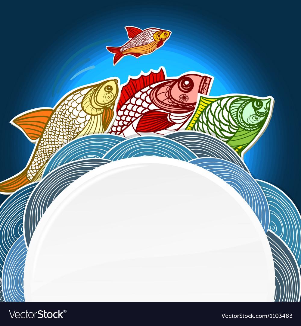 Fish menu template vector   Price: 1 Credit (USD $1)