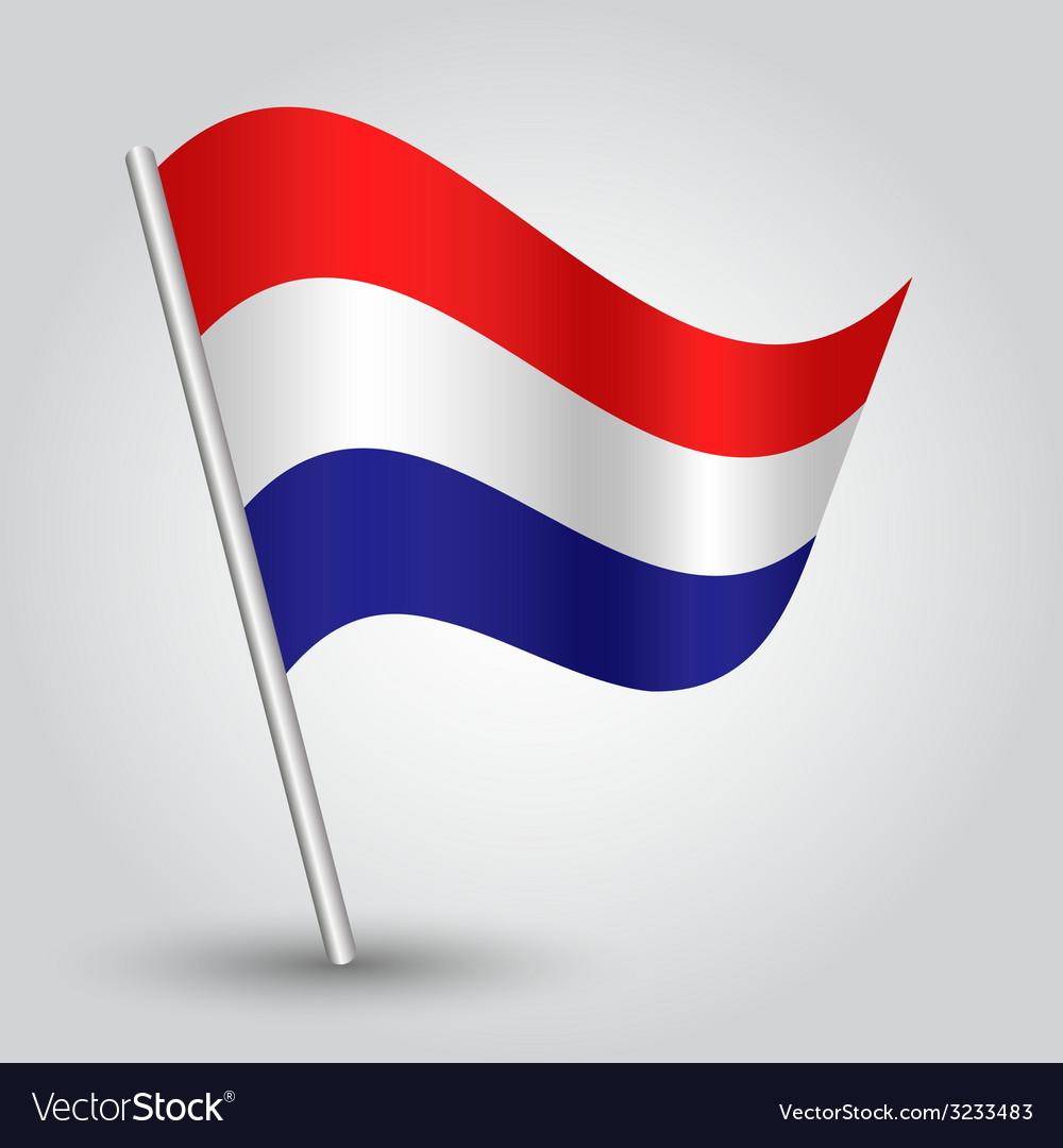Flag netherlands vector | Price: 1 Credit (USD $1)