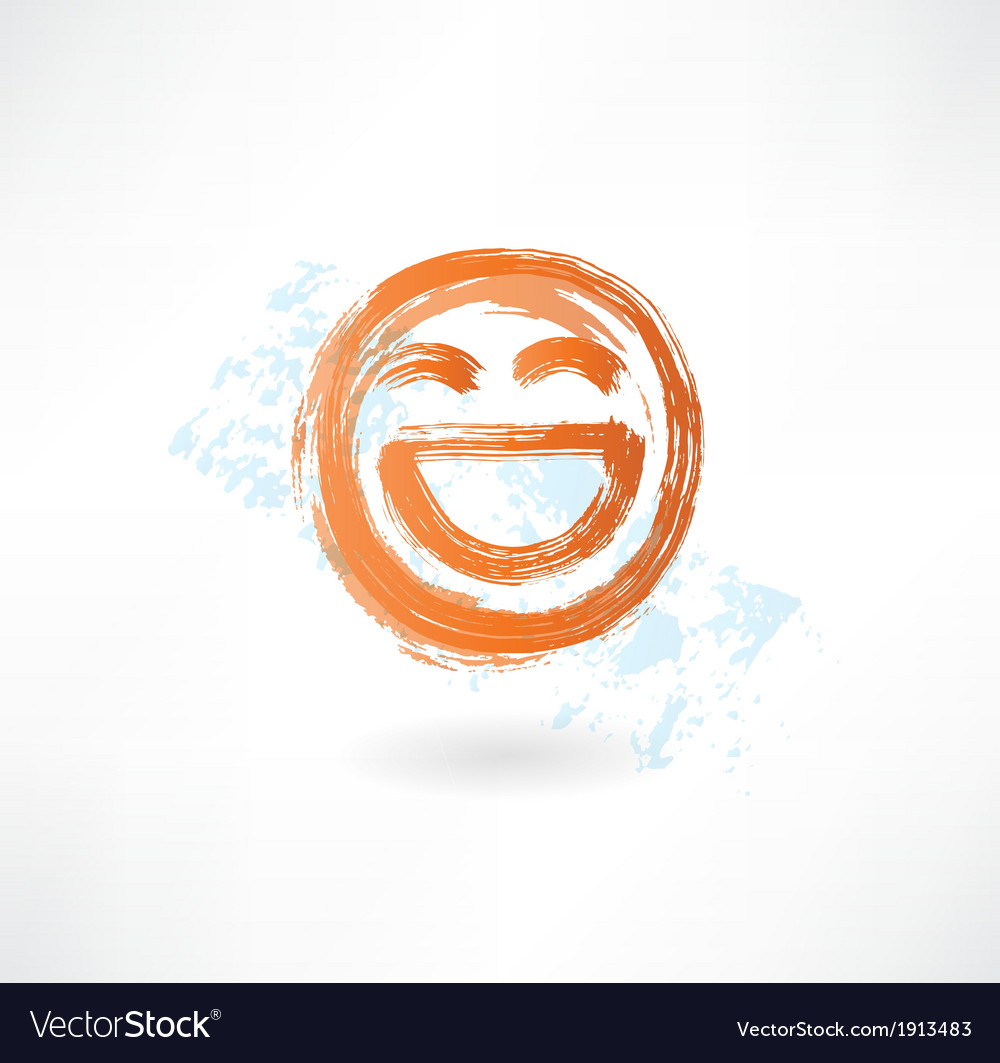 Laugh grunge icon vector | Price: 1 Credit (USD $1)