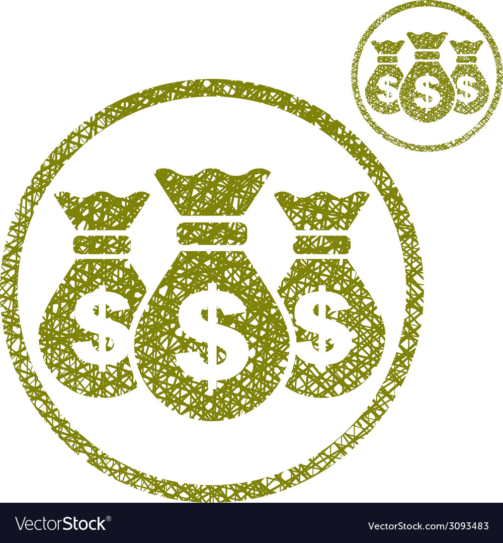 Three money bag simple single color icon isolated vector | Price: 1 Credit (USD $1)