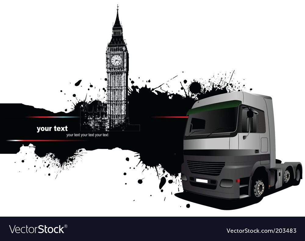 Truck and london vector | Price: 1 Credit (USD $1)