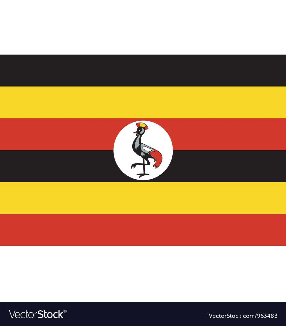 Ugandan flag vector | Price: 1 Credit (USD $1)