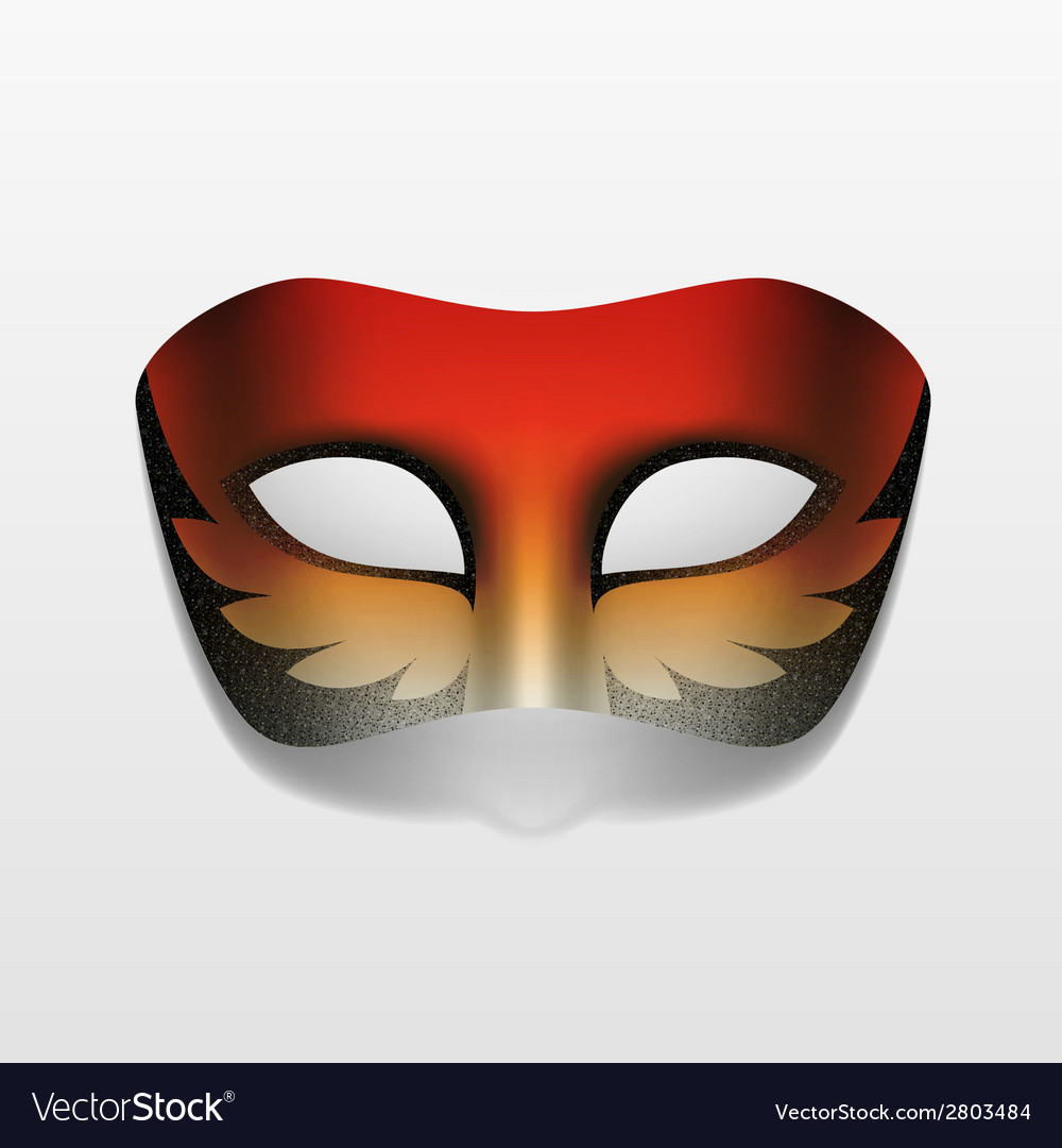 Carnival masquerade party mask isolated vector | Price: 1 Credit (USD $1)