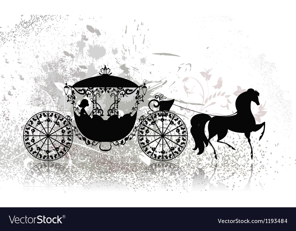 Carriage horse grunge vector | Price: 1 Credit (USD $1)