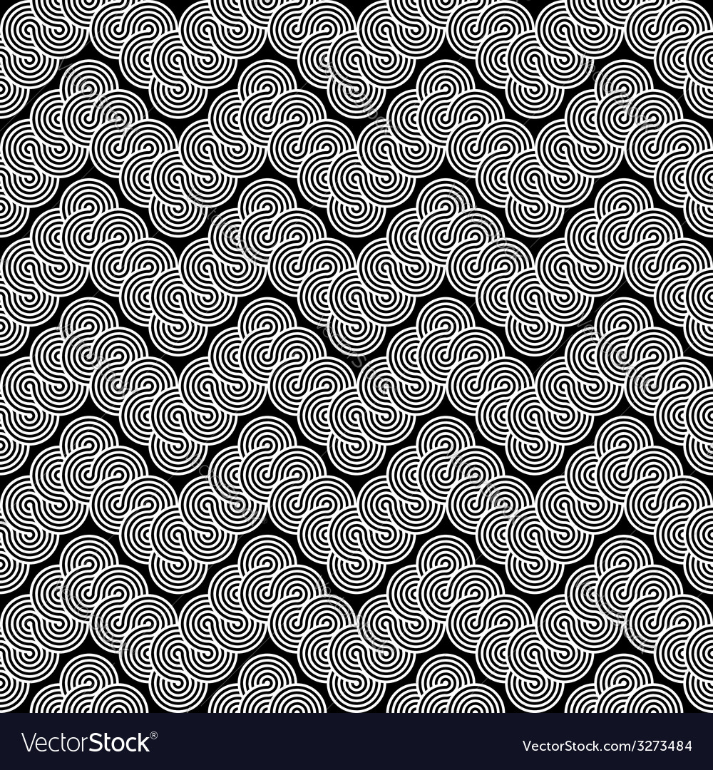 Design seamless monochrome zigzag lacy pattern vector | Price: 1 Credit (USD $1)