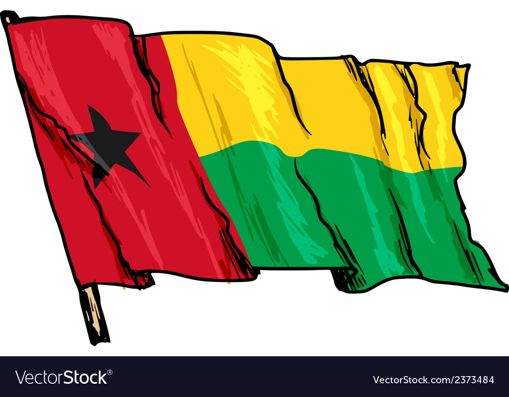 Flag of guinea-bissau vector | Price: 1 Credit (USD $1)