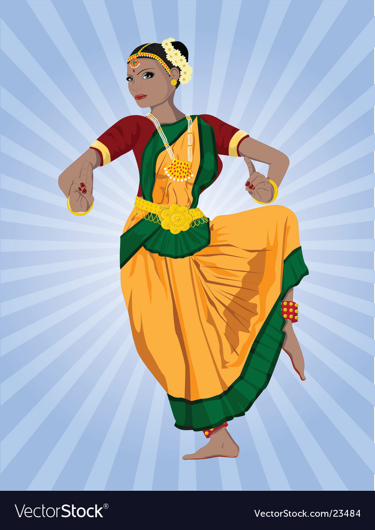 Indian dancer vector | Price: 5 Credit (USD $5)