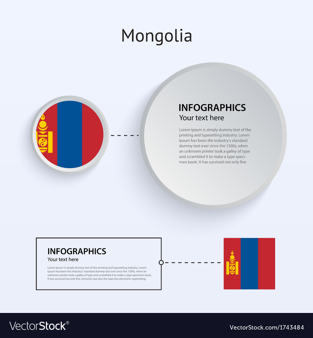 Mongolia country set of banners vector | Price: 1 Credit (USD $1)