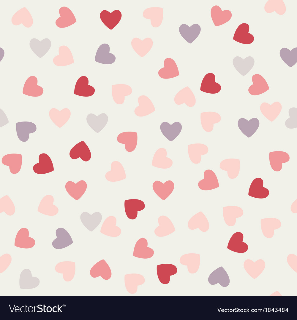 Pattern of hearts to valentines day vector | Price: 1 Credit (USD $1)