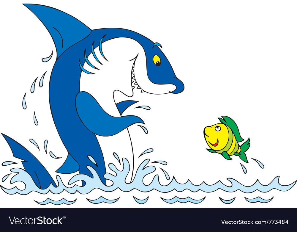 Shark and fish vector | Price: 3 Credit (USD $3)