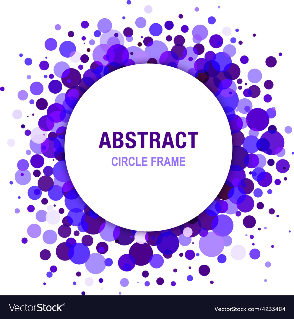 Violet abstract circle frame design element vector | Price: 1 Credit (USD $1)