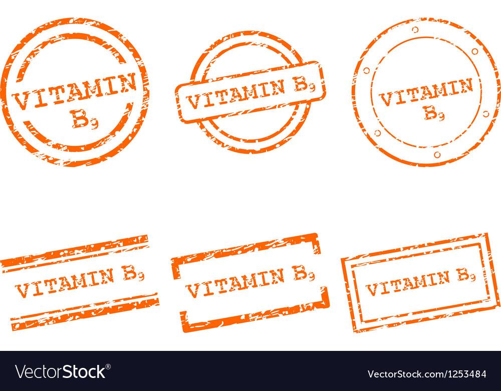 Vitamin b9 stamps vector | Price: 1 Credit (USD $1)