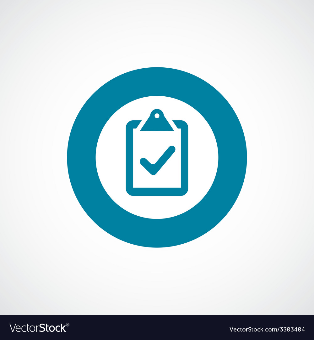 Vote bold blue border circle icon vector | Price: 1 Credit (USD $1)