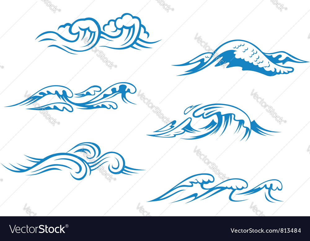 Waves vector | Price: 1 Credit (USD $1)