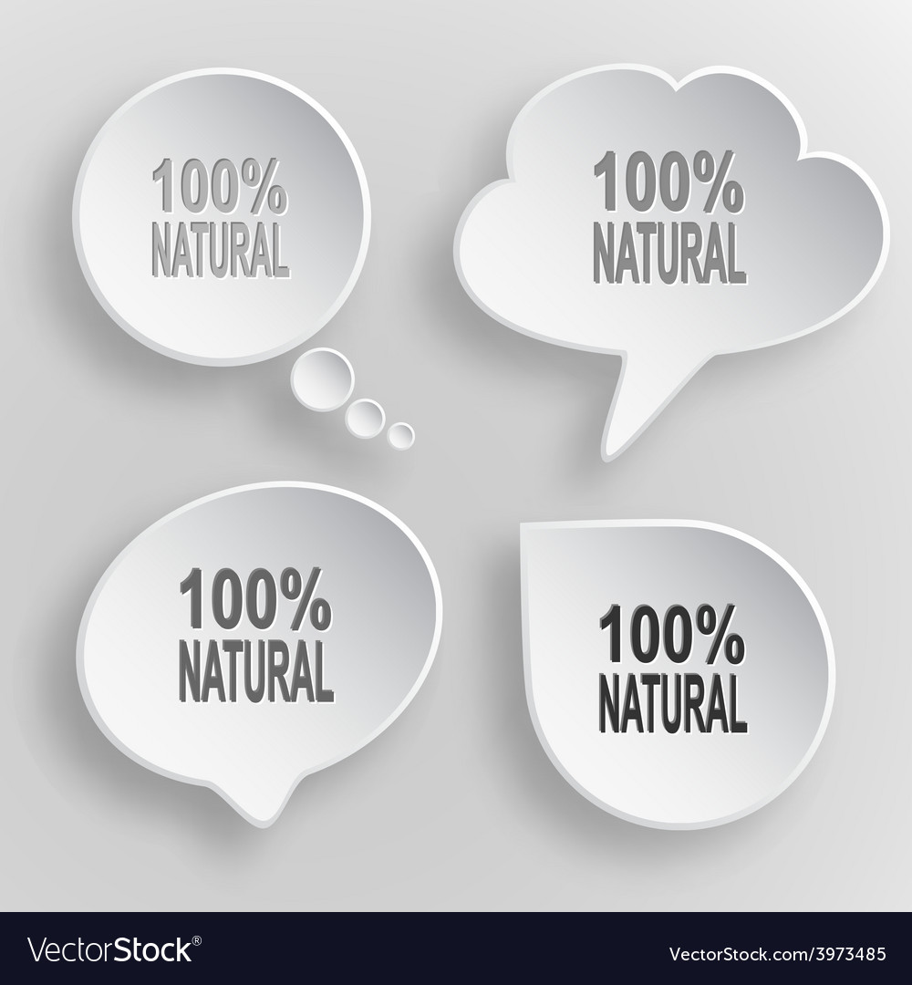 100 natural white flat buttons on gray background vector | Price: 1 Credit (USD $1)