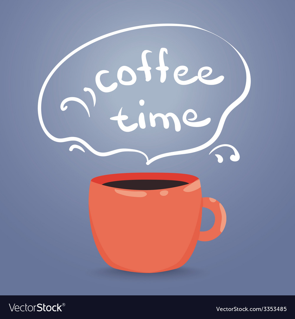 A steaming cup of coffee vector | Price: 1 Credit (USD $1)