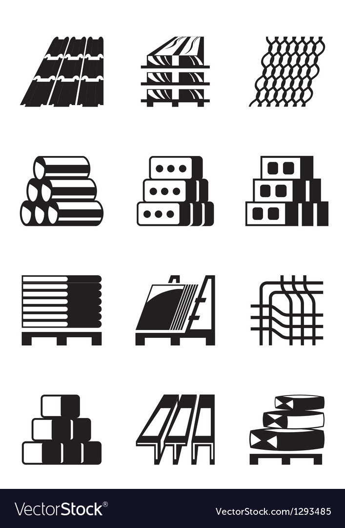 Building and construction materials vector | Price: 1 Credit (USD $1)