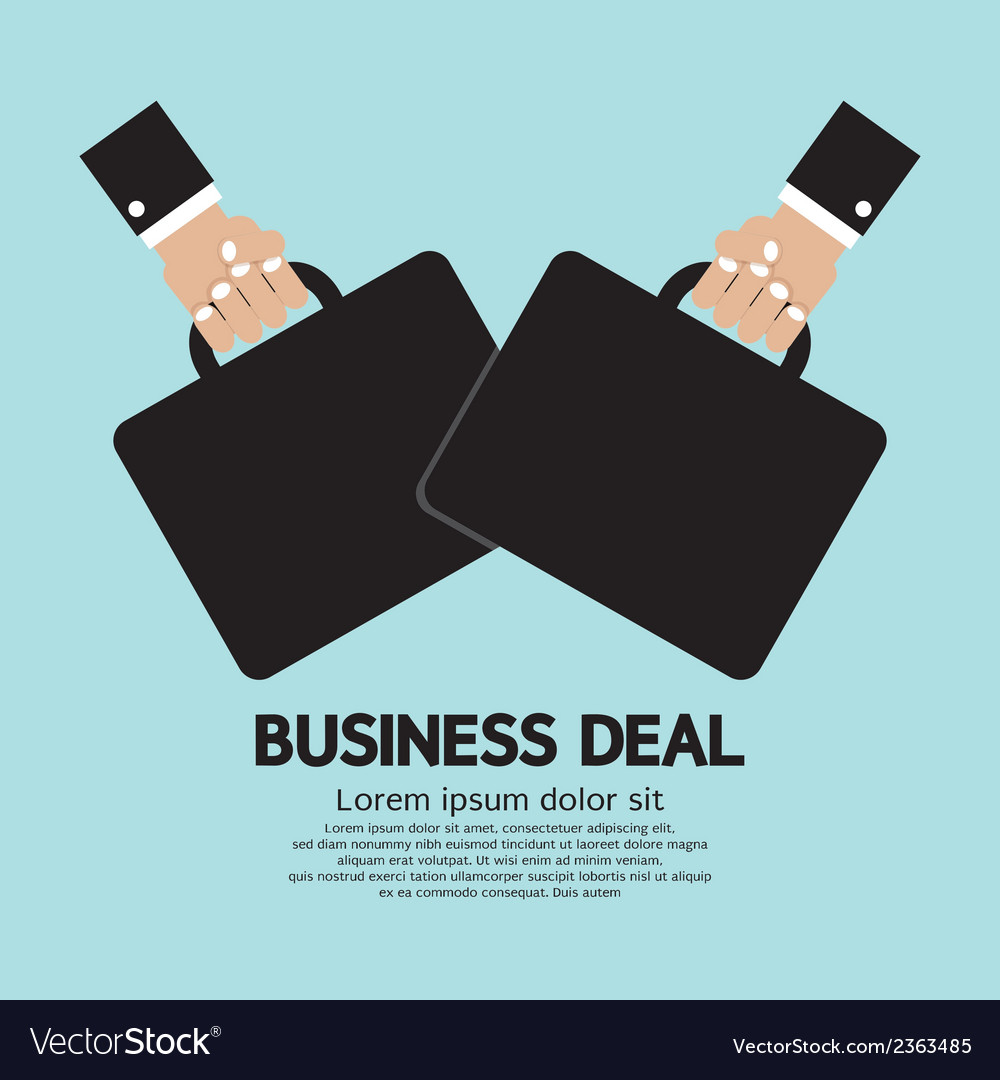 Business deal vector | Price: 1 Credit (USD $1)