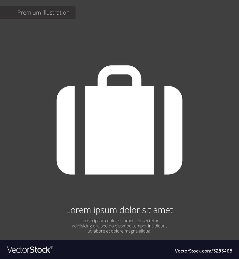Case premium icon white on dark background vector | Price: 1 Credit (USD $1)