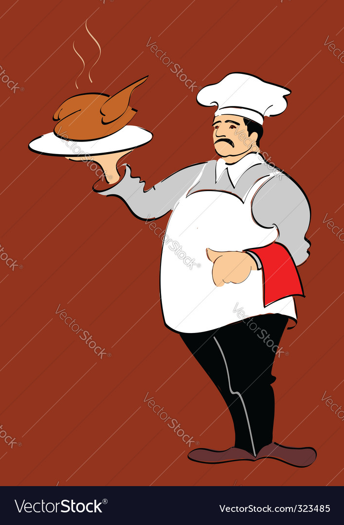 Chef hand drawn illustration vector | Price: 1 Credit (USD $1)