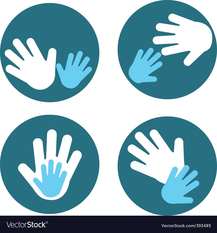 Children and parent hands vector | Price: 1 Credit (USD $1)
